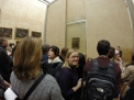 Trying to get up close and personal with Mona Lisa