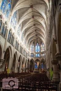 Inside Saint Severin church