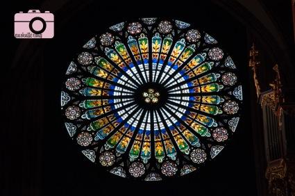The rose window at Notre Dame de Strasbourg