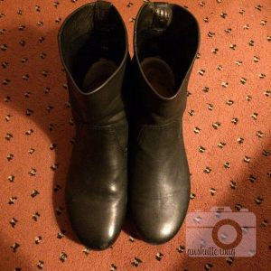 The boots I bought at Galeries Lafayette
