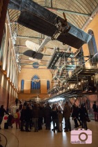The planes hanging in the old church