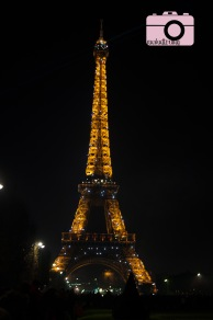 The tower with strobes on