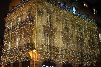 Christmas lights near Blvd Saint-Michel