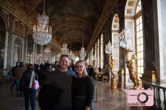 Josh and I in the hall of mirrors