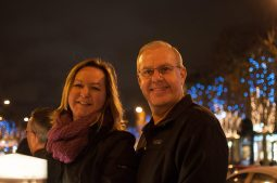 Mom and dad on the Champs-Élysées