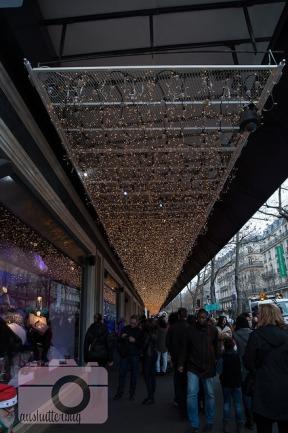Christmas lights and window displays