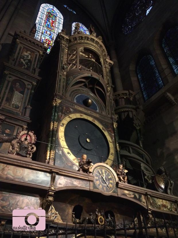 The astronomical clock at Notre Dame de Strasbourg