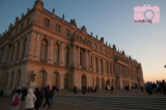 Light of the setting sun reflected on the palace