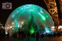 snow globe under the Eiffel Tower